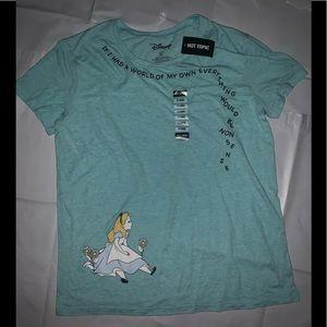 """Disney """"ALICE IN WONDERLAND"""" NONSENSE T Shirt XL"""